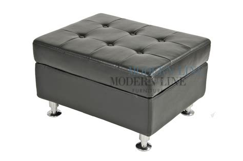 black leather square ottoman modern line furniture commercial furniture custom made