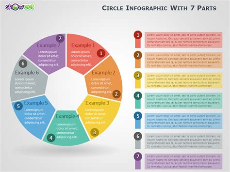 Circle Infographic With 7 Parts For Powerpoint Free Infographic Templates Powerpoint