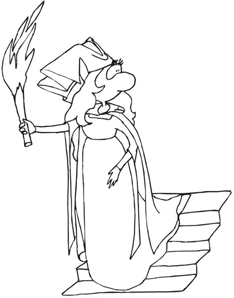 large princess coloring pages princess coloring page big nosed princess carrying torch