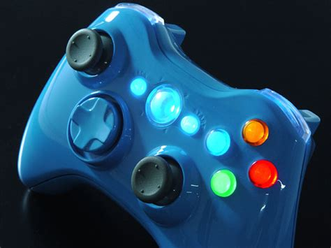 game gear led mod kit xbox 360 controller sings the blues in the xcm blue blood