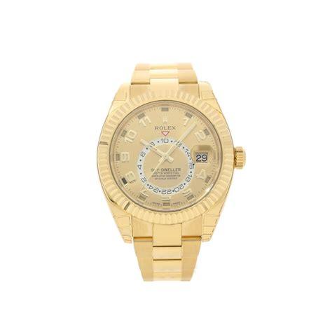 rolex sky dweller 326938 18ct yellow gold unworn