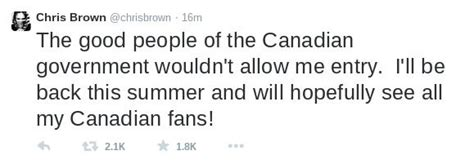 Entering Canada With A Felony Record Chris Brown Barred Entry From Canada Felony Record