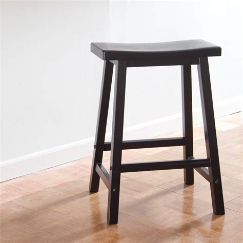 Black Saddle Seat Counter Stool by Winsome Wood 24 Inch Rta Single Saddle Seat Counter Stool