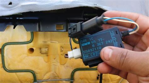 bmw front seat airbag passenger sensor removal 740il 540i 525i 530i youtube