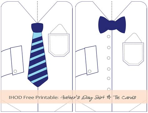 s day card for templates s day tie printables in honor of design diy