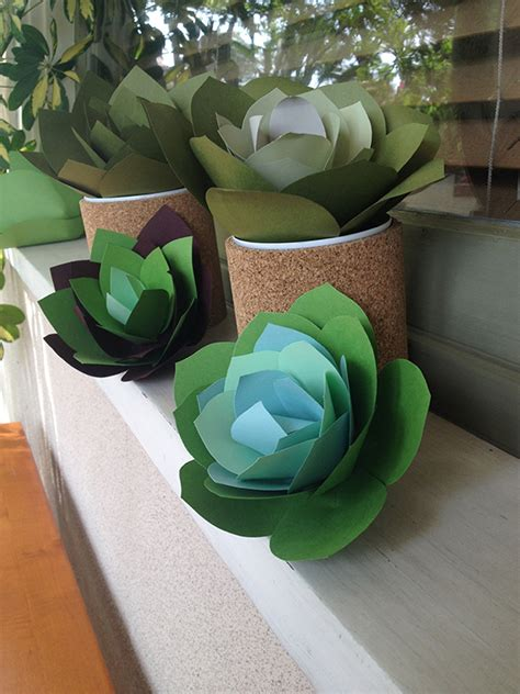 diy succulent projects paper craft idea make your own paper succulent