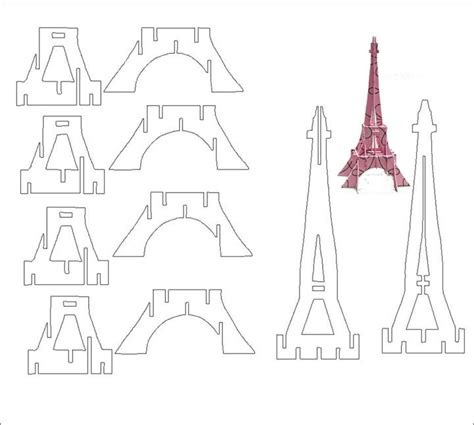 eiffel tower pop up card template m 225 s de 1000 ideas sobre molde torre eiffel en