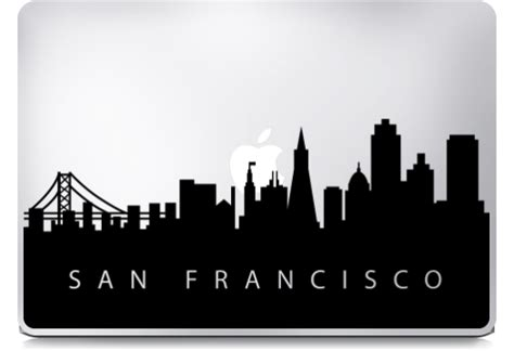 Macbook Decal City 3d san francisco skyline choice image wallpaper and free