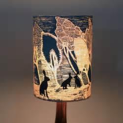 Handmade designer lampshade blue night brown hares 187 pretty dandy