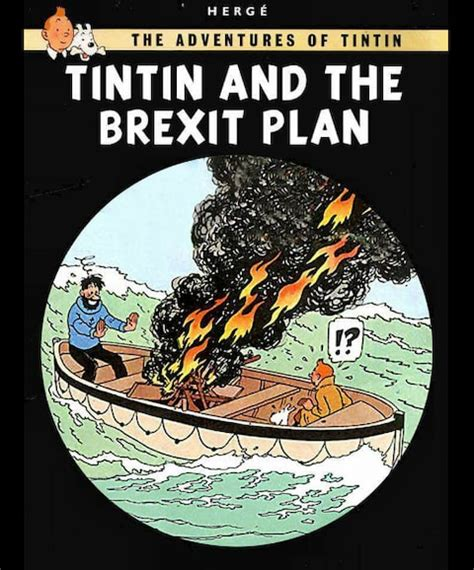 puigdemont brexit eu officials mock britain with anti brexit tintin poster