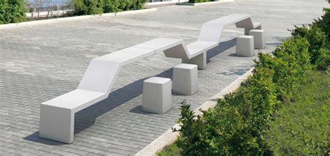 panchina in pietra panchina modulare in pietra ricostruita senza schienale