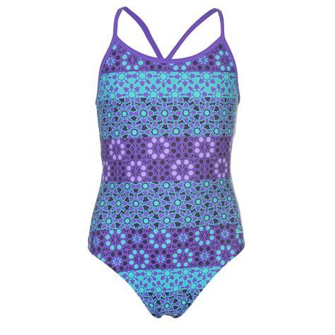 tribal pattern swimsuit zoggs kids tribal powerback swimsuit junior girls pattern