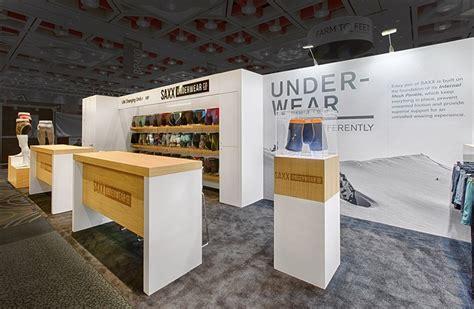 exhibition themes list trade show booth ideas saxx underwear mackenzie exhibit