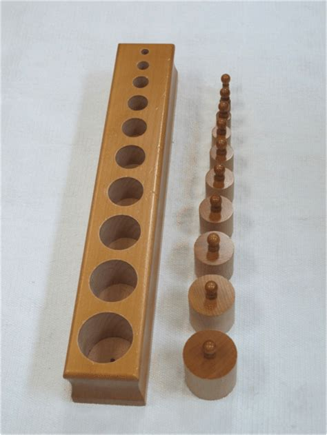 how to present montessori s knobbed cylinders lesson