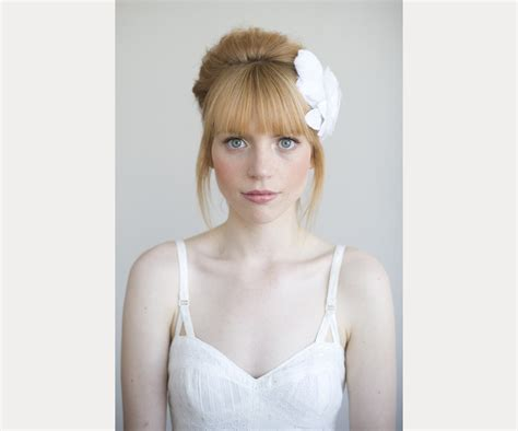 Wedding Hairstyles With Front Bangs by 40 Beautiful Brides With Bangs Mon Cheri Bridals