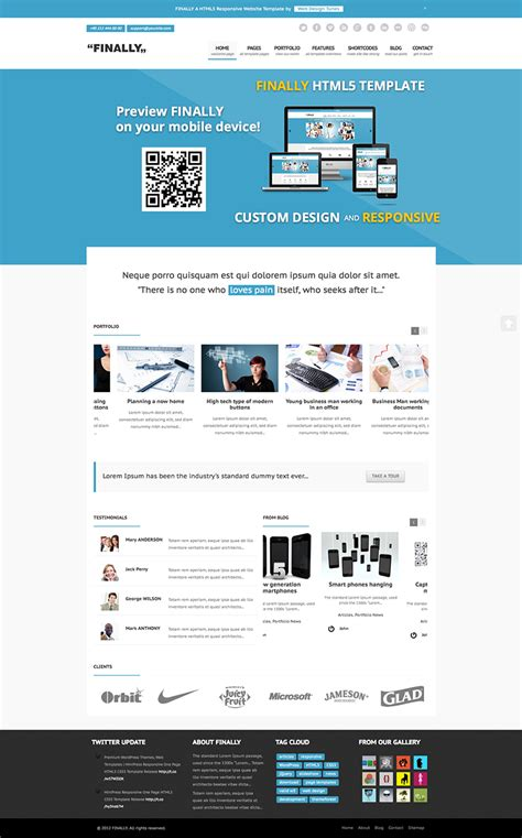 Finally Responsive Html5 Website Template Ready For Review Website Templates Html5