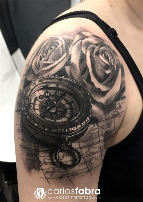 rose and compass tattoo 55 best images about tatuaggio on compass