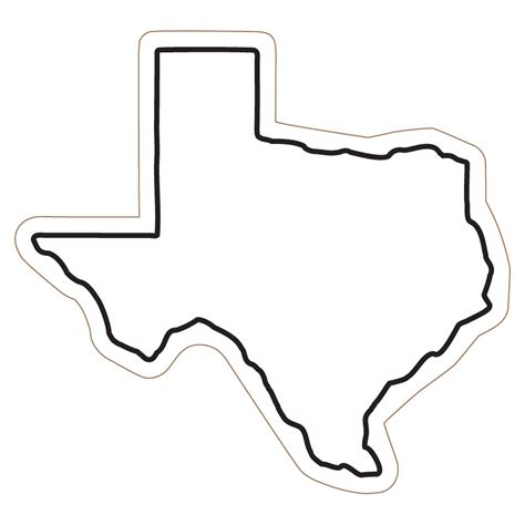 texas map shape simple texas outline pictures to pin on pinsdaddy