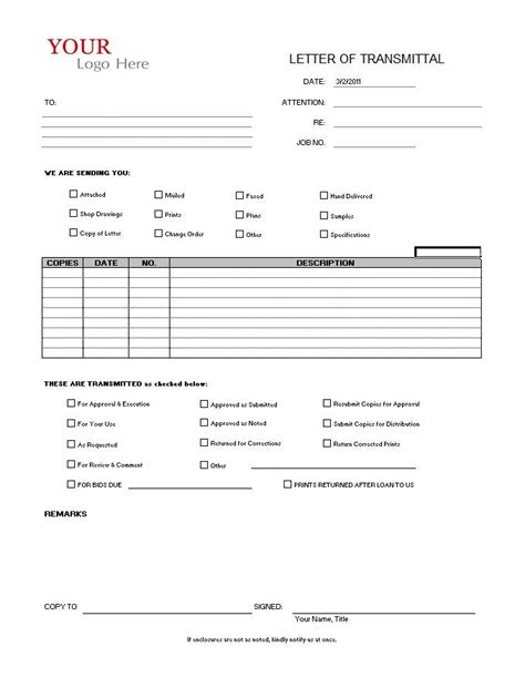 Transmittal Document Format transmittal form cms