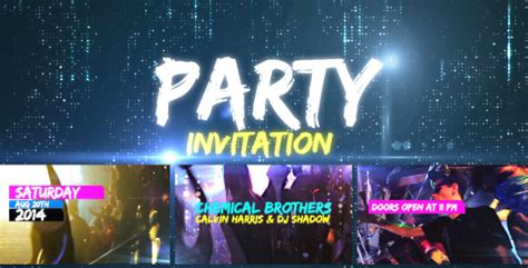 template after effects party videohive party invitation after effects template