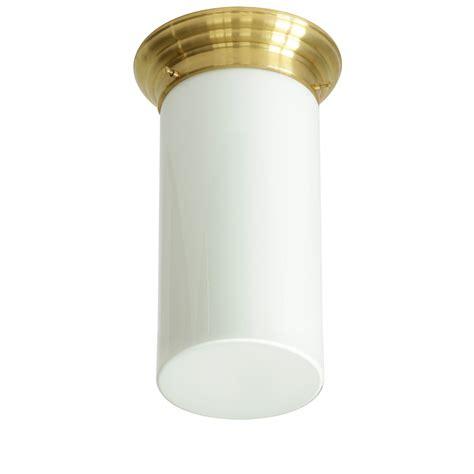 decken mit bildern messing decken tubenleuchte mit opalglas 216 16 21 cm casa