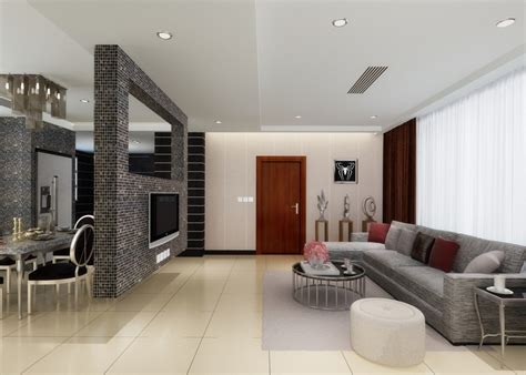 Dining Room Partition Design by Wall Between Dinning Room And Living Room Brick Tv Wall