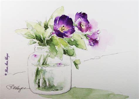 easy watercolor paintings flowers simple watercolor flower paintings bing images flowers