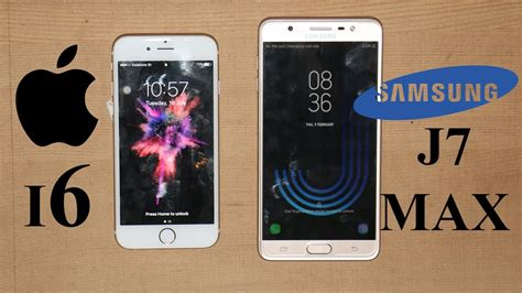 samsung galaxy j7 max vs iphone 6 speed test