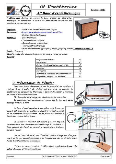 Isolant Acoustique Mur 860 by Calam 233 O Ap Banc D Essai Thermique