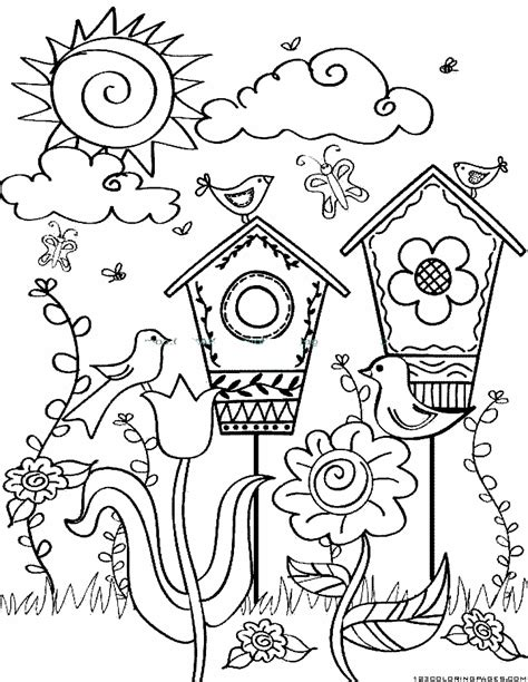 scottish garden seasons colouring book books coloring pages part 2