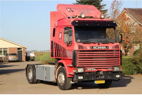 scania 143m 420 v8 727dkm 1ste tractor unit from