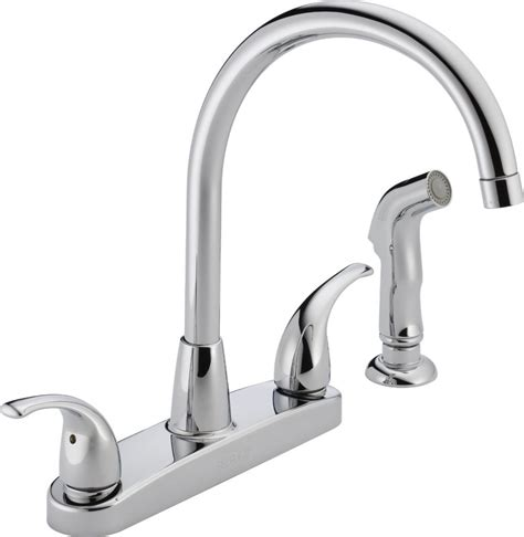 Attractive Peerless Chrome Kitchen Faucet #1: Peerless-P299578LF-Choice-Two-Handle-Kitchen-Faucet-998x1024.jpg