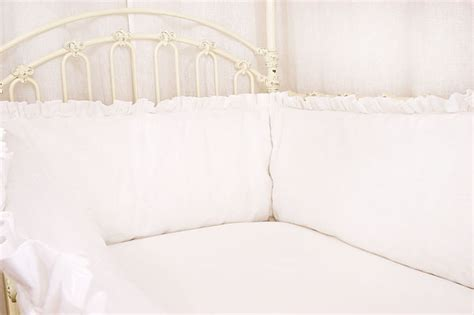 White Bumper Crib by B 233 B 233 Papillon European Styled Baby Linens Bedding Crib