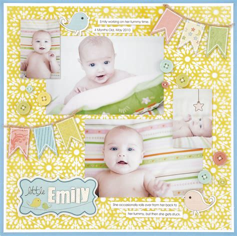 scrapbook layout for baby baby love layout ideas for scrapbooking babies 12