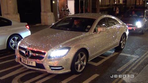 pink sparkly mercedes mercedes covered in one million swarovski crystals