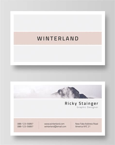 Business Email Card Template