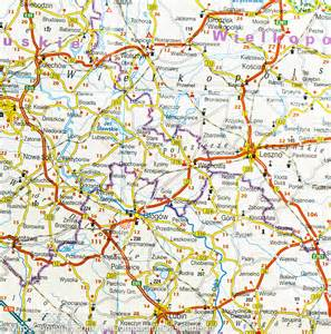 southern poland road map reise how mapscompany