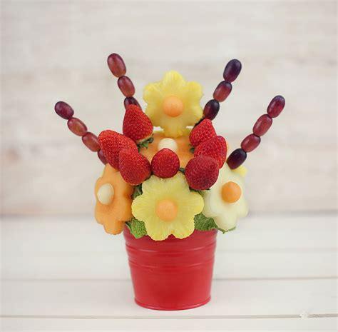 fruit bouquets blooming flowers edible fruit bouquet