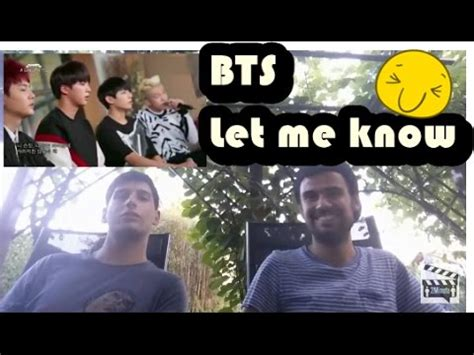 bts let me know bts let me know a song for you reaction german