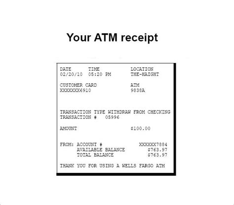 Electronic Receipt Template by 7 Electronic Receipt Templates Doc Pdf Free