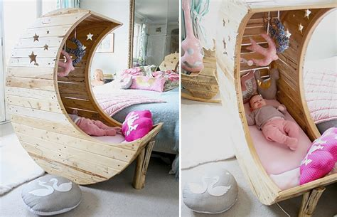 The Moon Cradle Www Lolleyweb - how to make moon shaped cradle craftspiration handimania