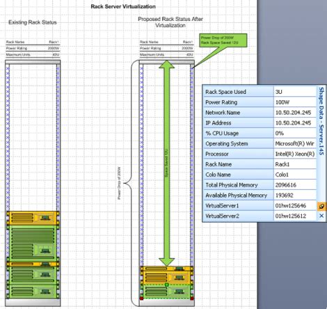 rack layout template excel rack server virtualization add in visio guy