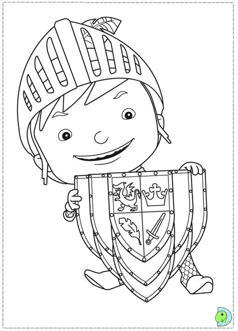 nick jr mike the knight coloring pages mike the knight coloring page dinokids org