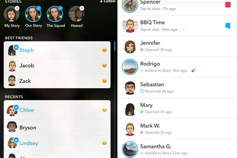 can you see snapchat bestfriends on the new update snapchat introduces a redesigned app that separates your