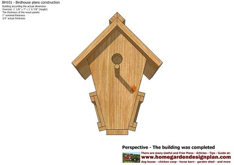 mina bh101 bird house plans construction bird house