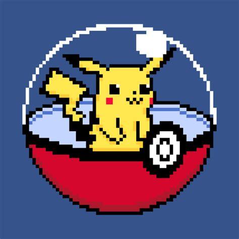 Awesome Mugs by Pikachu Pokeball Pixel Art Pokeball T Shirt Teepublic