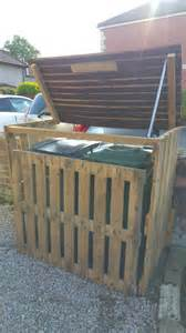 Free Woodworking Plans For Storage Beds by Pallet Garbage Bin Storage Shed Pallet Ideas 1001 Pallets