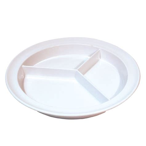 Section Plates by Maxiaids Three Section Melamine Plate 9 Inch Diameter