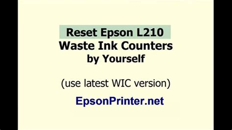 reset epson l210 youtube how to reset epson l210 by wic reset utility tools youtube