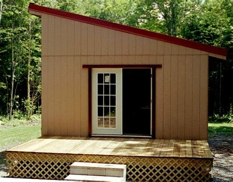 small shed roofed cabin easy  build  country